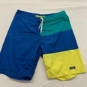 Bench Men's Board Shorts Size 36 Blue Yellow Green
